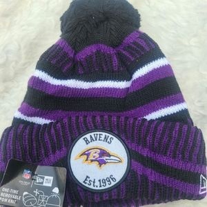 NWT-NFL RAVENS PURPLE HAT ONE SZ
